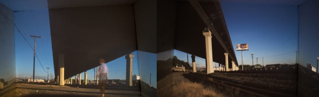 train yards with camera obscura box
